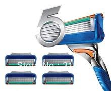Гаджет  16pcs Flexible Comfort Guard 5 Blade System Sharpener Shaver Razor Blades for Men Portable None Красота и здоровье