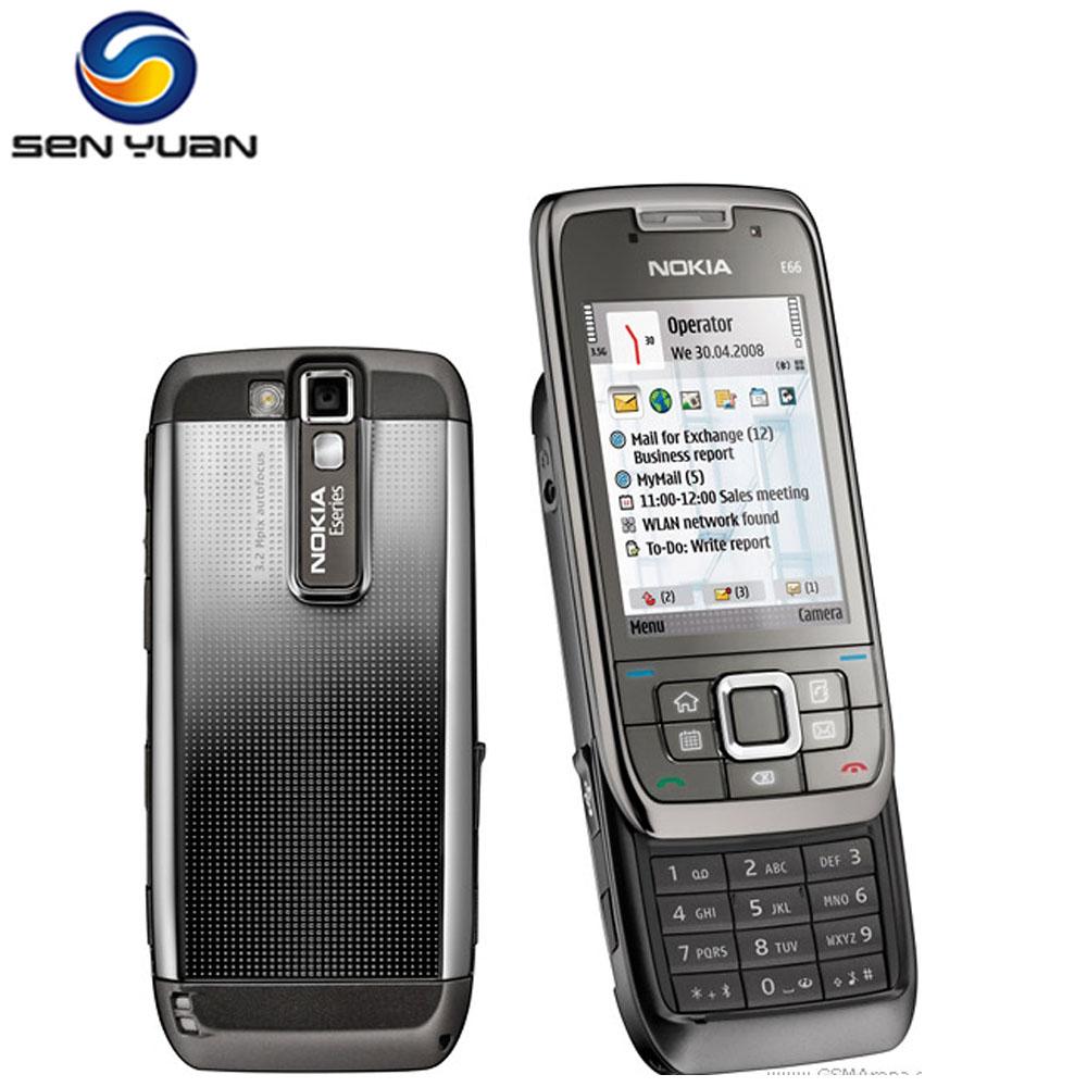 E66 Original Unlocked Phone Nokia E66 GSM WCDMA 3G WIFI GPS Bluetooth 3.15MP Camera cheap nokia cell phone(China (Mainland))