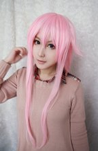 MCOSER Promotion High Quality Synthetic The Future Diary Gasai Yuno 39 Inches Long Straight Pink Girl Cute Cosplay Wig(China (Mainland))