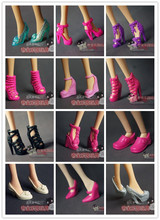 wholesale fashion Children kids baby toys Girls Gift Doll Accessories Mix Style Color20 Pair shoes For Barbie original Dolls 1/6