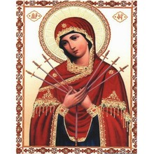 Buy cross stitch kits Red Lady diy 5d diamond painting Home Decoration mosaic embroidery Full diamond religious icons Crafts for $6.90 in AliExpress store