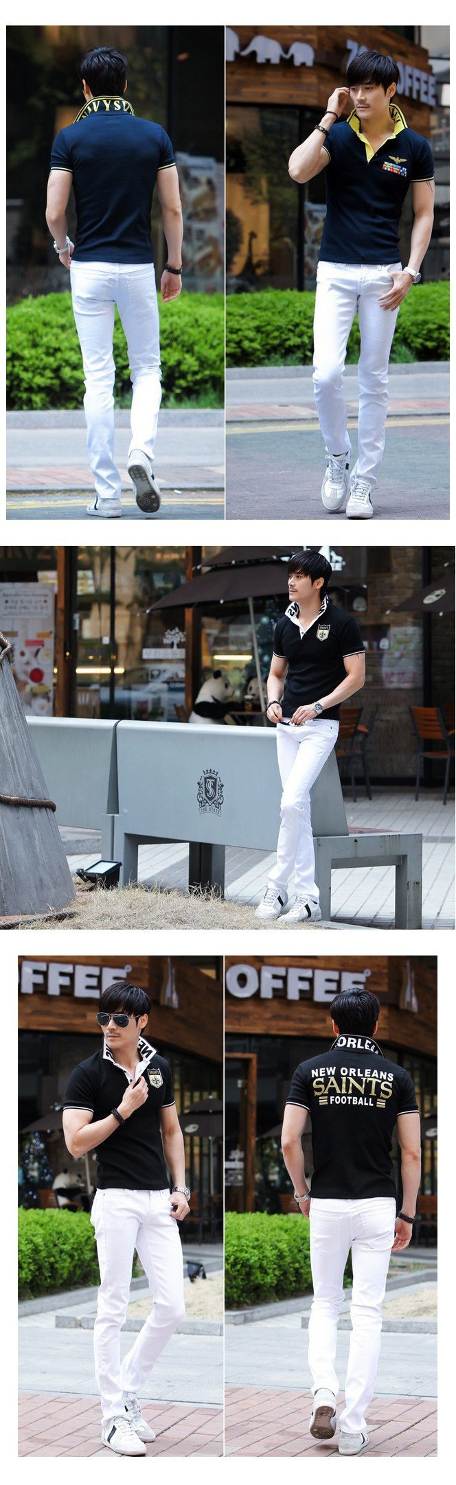 Скидки на Новый Белый Рваные Джинсы Мужчины С Отверстиями Супер Тощий Известный Дизайнер марка Slim Fit Разрушенные Torn Жан Брюки Для Мужчин AY991 Z15