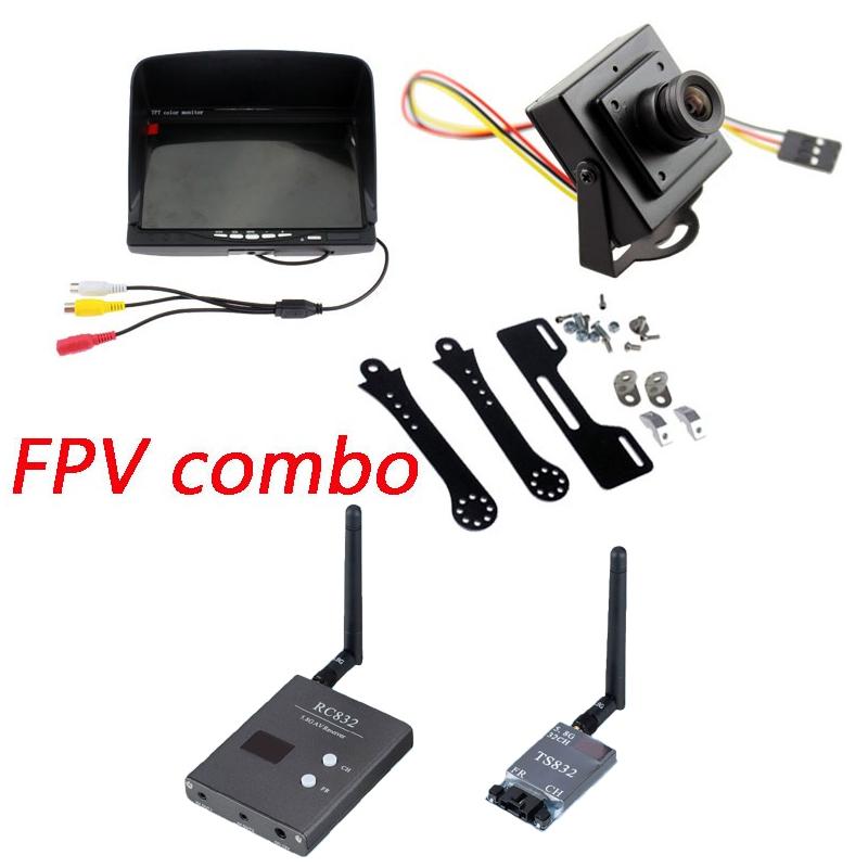 FPV combo System 5.8g TS832 transmitter RC832 Receiver on 7inch LCD Monitor 700TVL CCD Camera Phantom QAV250 Quadcopter(China (Mainland))