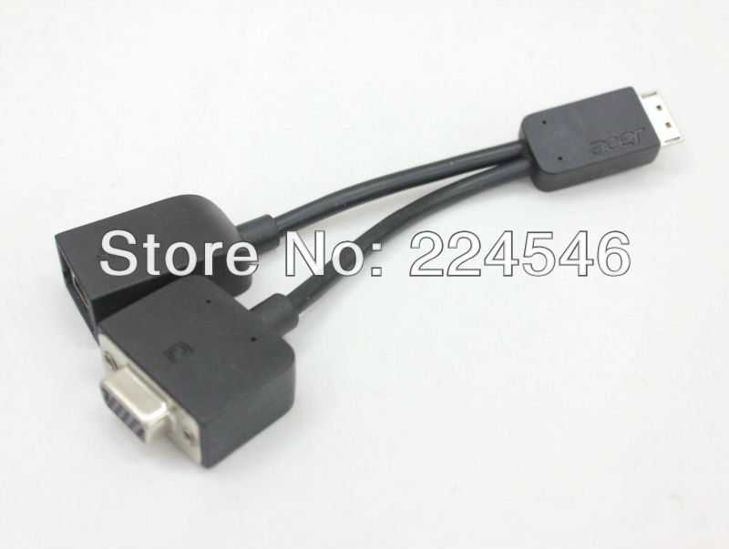 Original Genuine LAN/VGA Combo Port Cable for Acer Notebook Aspire V5-431 471 531 571 571P(China (Mainland))