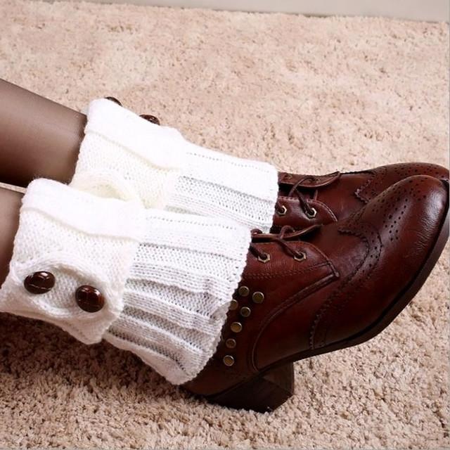Горячих женщин зимой гетры носки женские сапоги кнопка крючком вязать загрузки ботворезы ...