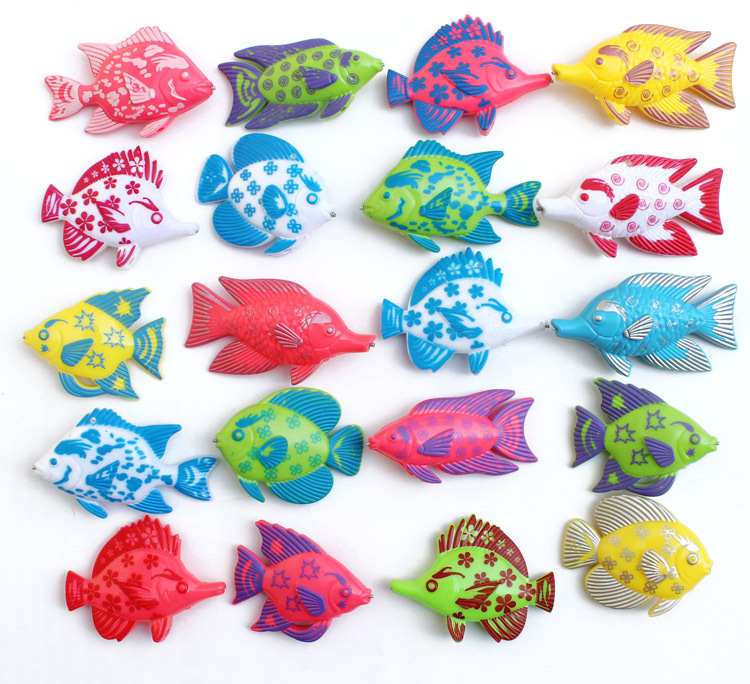 6pcs/lot Learning & education magnetic fishing toy comes outdoor fun & sports fish toy gift for baby/kid GYH(China (Mainland))