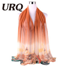 summer scarves Women solid color Long style fashion Brand Designed Trendy Warm Soft Gradual Lady scarf Accessories(China (Mainland))