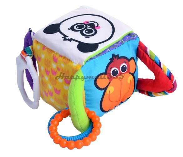 Baby Child Kids Mix Match Activity Blocks Soft Plush Rattle Doll Toys Little Bear Clutch Cube Hang Bell SV16 SV010772(China (Mainland))