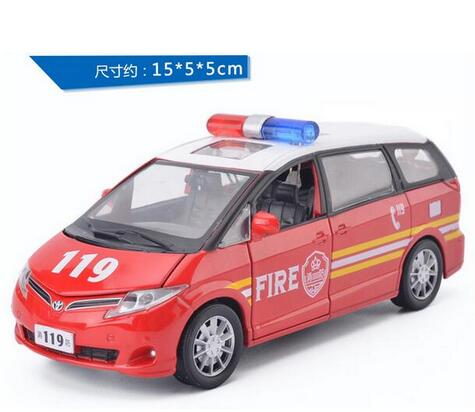 wholesale 1:32 TOYOTA previa ambulance car model to simulate the back of the car light alloy toys for children gifts(China (Mainland))