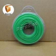 0.120 ' 3.0 mm diamemter herramientas herramientas de Nylon cuadrada línea cortadora de hierba de Color verde tarjeta de la ampolla embalaje