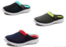 New Design Unisex Mesh Breathable Sandals 2016 Summer Flat Heel Casual Sandals Women Men Couples Beach Flip Flops Slippers(China (Mainland))