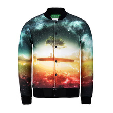 Buy Unisex casual 3d jacket Tops galaxy space colorful sunset Print baseball outerwear coats men harajuku clothes chaqueta hombre for $24.88 in AliExpress store