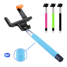 Wireless Bluetooth Extendable Monopod Handheld Self Portrait Selfie Stick with Remote Shutter Function for iPhone Samsung Sony