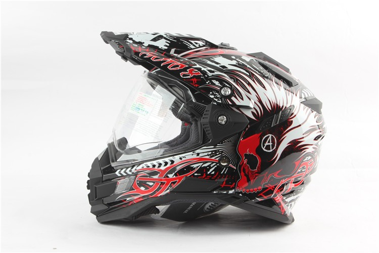 new arrival gray eyes THH tx27 motorcycle helmets mtb downhill cascos motocicleta with dual visor off road motocross helmet DOT