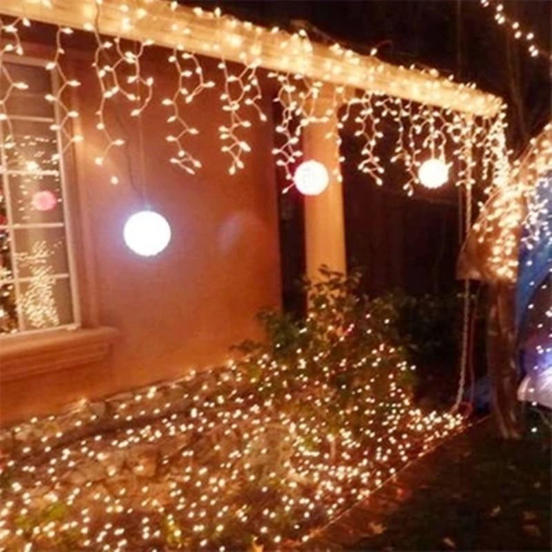 Flashing Lights String Quartet : New 10m*0.5m 320 LED Light Flashing Lane LED String lamps curtain icicle Christmas festival ...