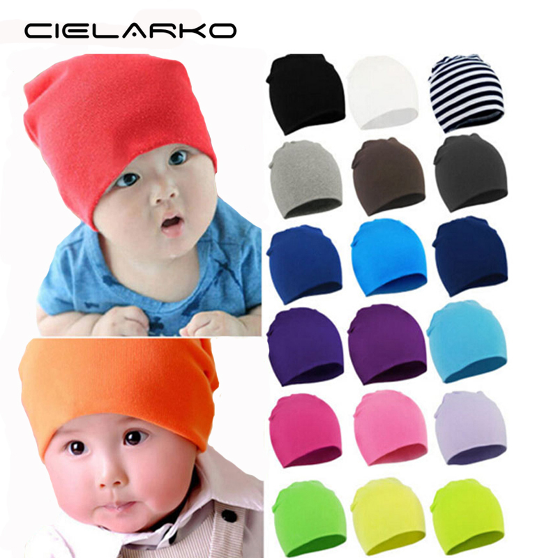 Cielarko Autumn Winter Warm Kids Hat Cotton Baby Hat Girl Boy Toddler Infant Kids Caps Candy Color Lovely Baby Beanies Hat 077(China (Mainland))
