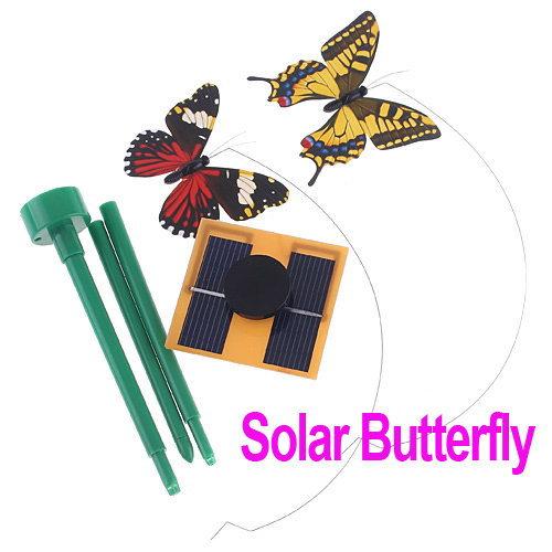 Hot SALE!!High Quality Solar Gift Power Flying Butterfly Garden Yard Decoration, Wholesale(China (Mainland))