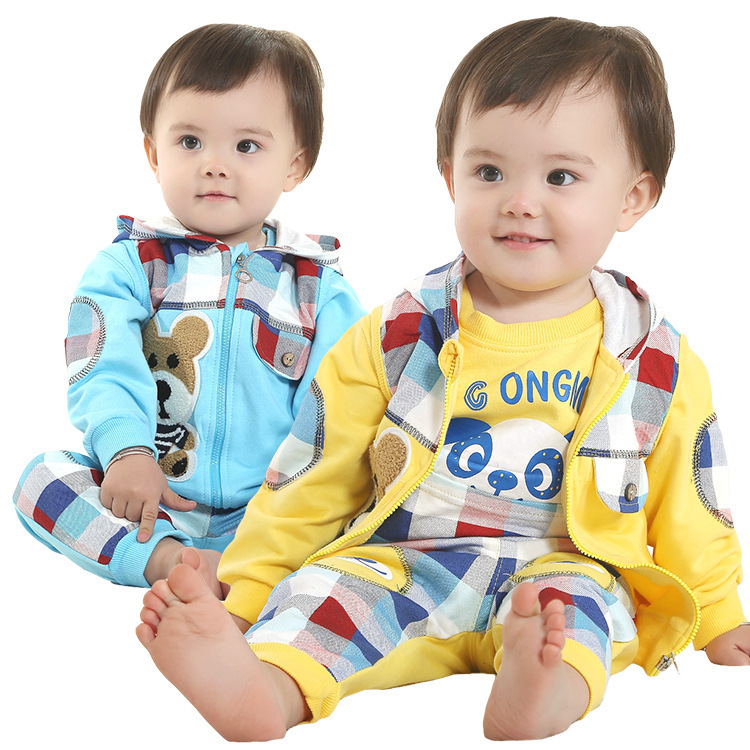 Free shipping2014 New Spring and Autumn [ Valley ] leisure suit pose cute infant suit 0325<br><br>Aliexpress