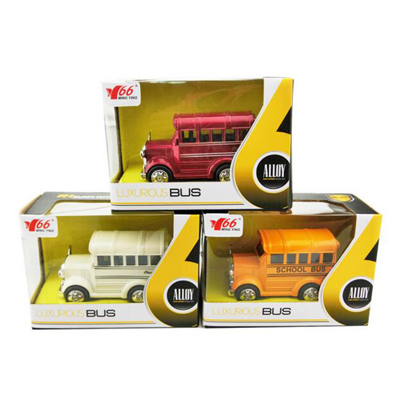1:36 Alloy Emulational Car Model Toys Classic School Bus Brinquedos Miniature Pull Back Cars Doors Openable Action Figures Toys(China (Mainland))