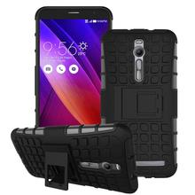 For Asus Zenfone 2 ZE551ML ZE550ML Case Heavy Duty Armor Stand Shockproof Hybrid Hard Soft Rugged Silicon Rubber Cover <^(China (Mainland))