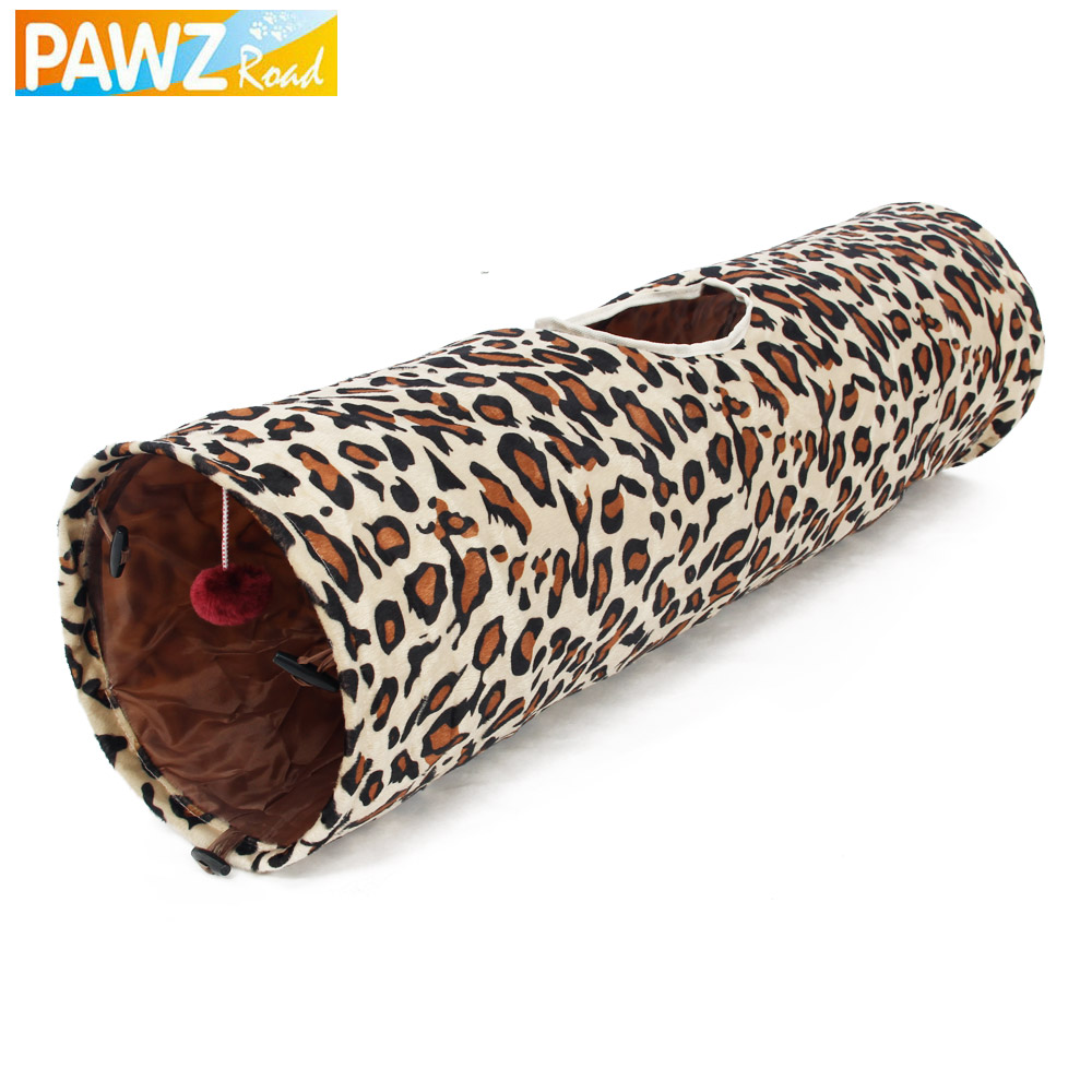 Pet Tunnel Cat Play Tunnel Leopard Print Crinkly Cat Fun Long Tunnel Kitten Play Toy Collapsible Rabbit Play Tunnel Bulk Cat Toy(China (Mainland))