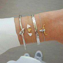 30 Style Boho Bracelet éléphant coeur coquille étoile lune arc carte cristal perle Bracelet femmes breloque fête de mariage bijoux accessoires(China)