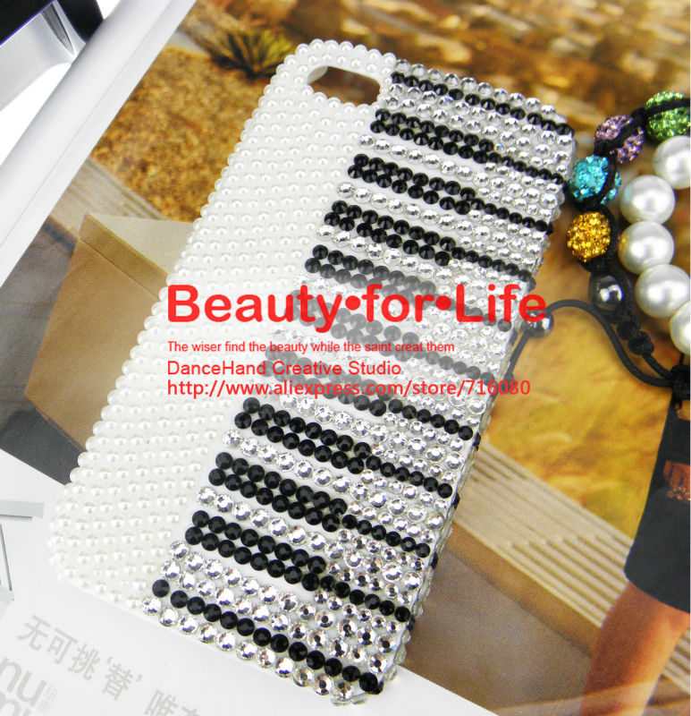 HandMade 3D Bling Crystal Rhinestone Piano Case Cover for Apple Iphone 4 and 4S 5 5S 5C(China (Mainland))