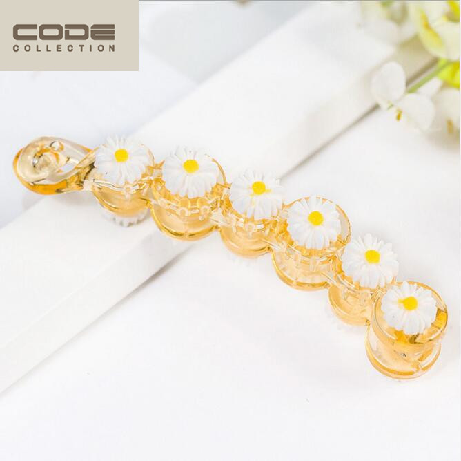 2016 New Hairgrips Banana Hairpins Arcylic Fresh Daisies Hair Clip Trendy Barrettes For Women Girl Hair Accessories Headwear(China (Mainland))