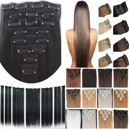 """Cheapest 8Pcs 170G Clip in ins Hair Extensions Full Head Synthetic 26"""" 66CM For Party/Gift Professional US UK 1-5 Delivery day(China (Mainland))"""