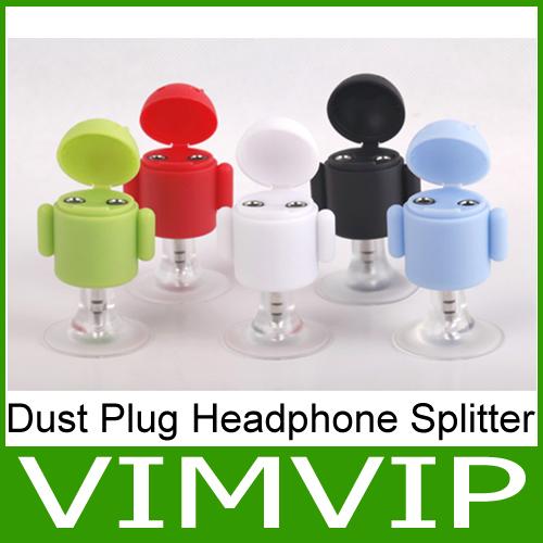 2013 NEW!!!Hot sale!! Purple 3.5mm Stereo Plug Headphone Splitter Universal Headset Splitter Adapter