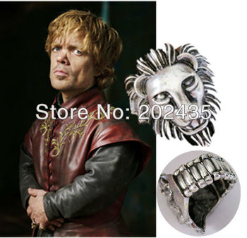 Freeshipping 20pc a lot  THE GAME OF THRONES Tyrion Lannister ring GAME OF THRONES  HR8016