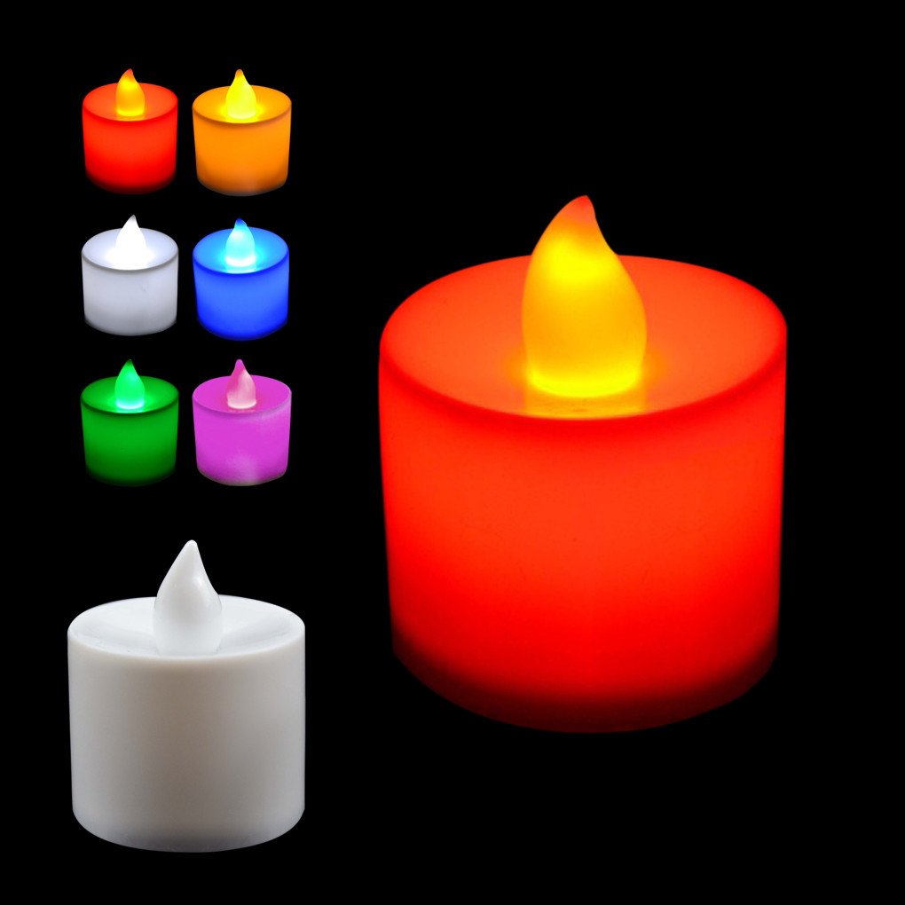 Romantic 6 Colors Candle Shape LED Candles Fliker Flameless Candle Light For Wedding Party super Affordable