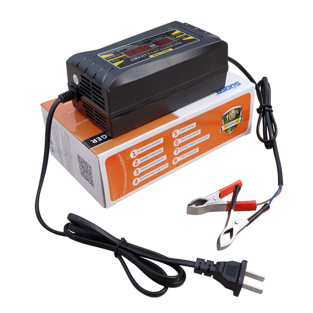 12V 6A LCD Display Smart Quick Charging Battery Charger - Car Vehicle Motorhome(China (Mainland))