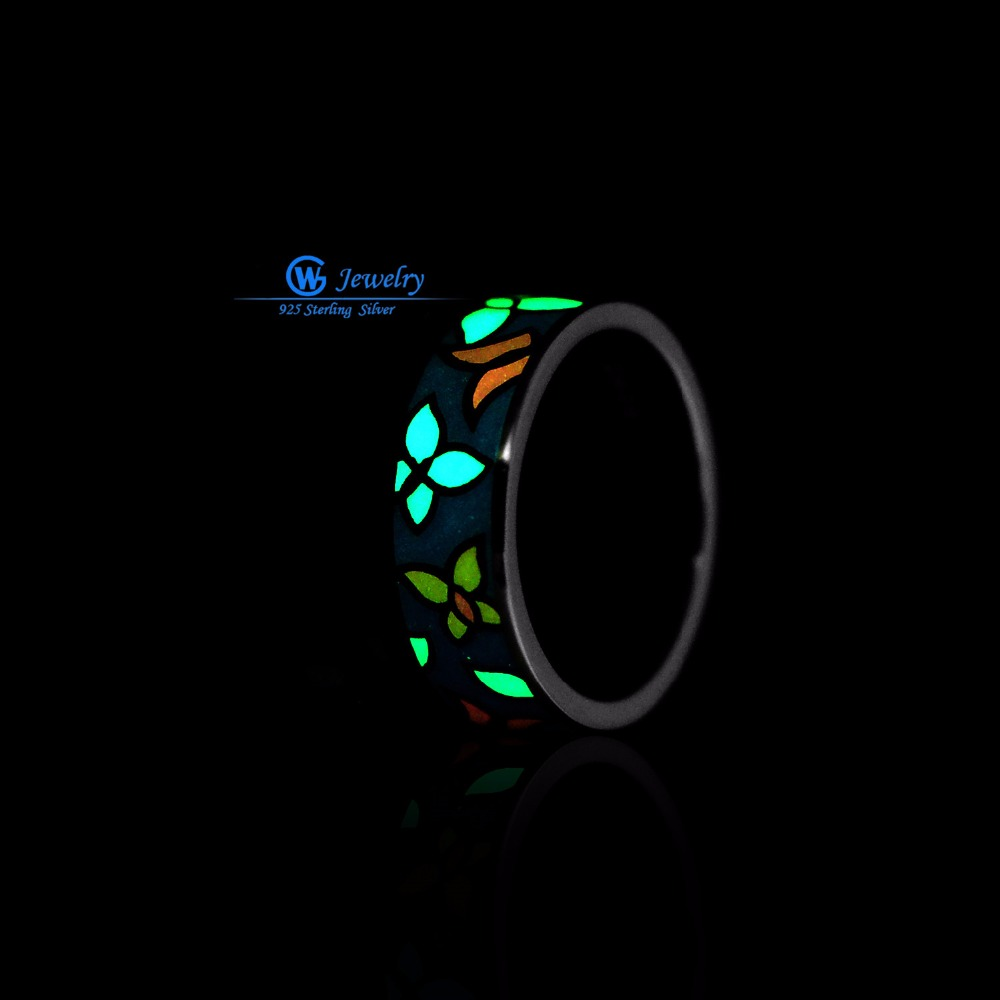Aliexpresscom buy gw fine jewellery glow in the dark for Glow in the dark wedding rings