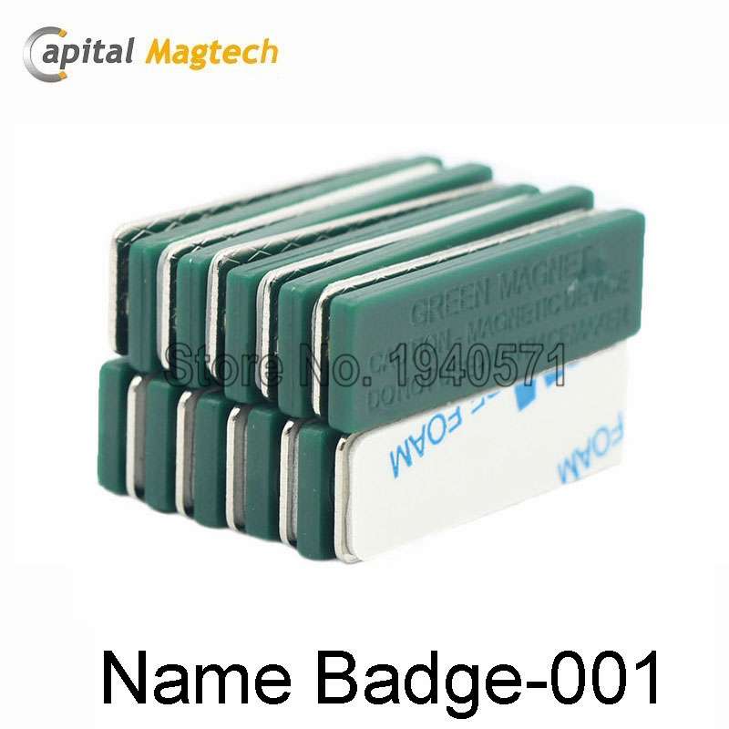 25pcs Magnetic Badge Name ID Badge Attachment Name Tag Holder with  3pcs Magnets  Free Shipping