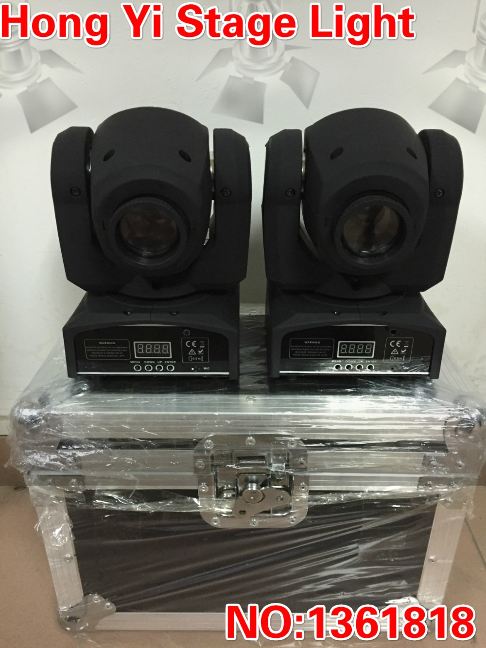 Hong Yi Stage Lighting LED Moving Head gobos Light DMX512 with Flight case for Disco DJ Club Home Garden Party Wedding Effect(China (Mainland))