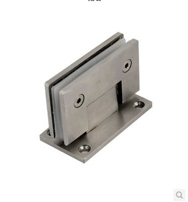 Stainless steel bathroom clip / bathroom glass door clip 90 degrees / shower hinge / door clip / thickened casting(China (Mainland))