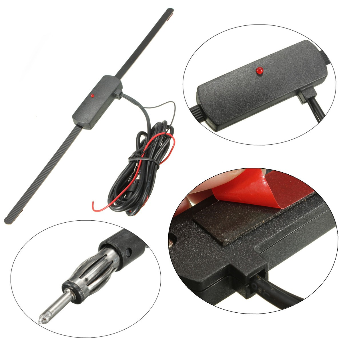 2015 New Car Windscreen Aerial Antenna Internal Mount Amplified Radio Stereo Electronic(China (Mainland))