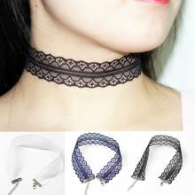 Black Lace Choker Necklaces Fashion Women Jewelry boho Punk Goth Gothic Neck Collar Hand Made x61(China (Mainland))