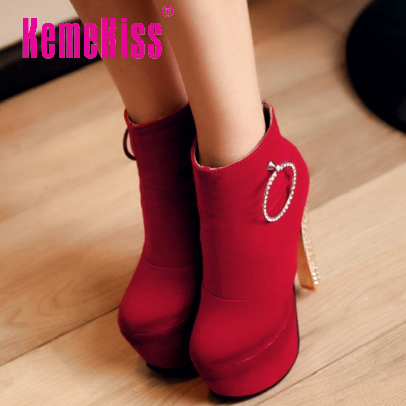 CooLcept Free shipping ankle half short boots women snow fashion winter warm boot footwear high heel shoes P15158 EUR size 33-40<br><br>Aliexpress