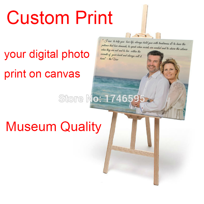 Free shipping Your picture, Family, friends or Baby Photo, Favorite Image Custom Printed on Canvas prints painting Gallery Art(China (Mainland))