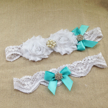 2pcs/set Something Blue Bridal Garter Aqua Blue Wedding Garter Set Romantic Wedding Gift Plus Size Bridal Accessories
