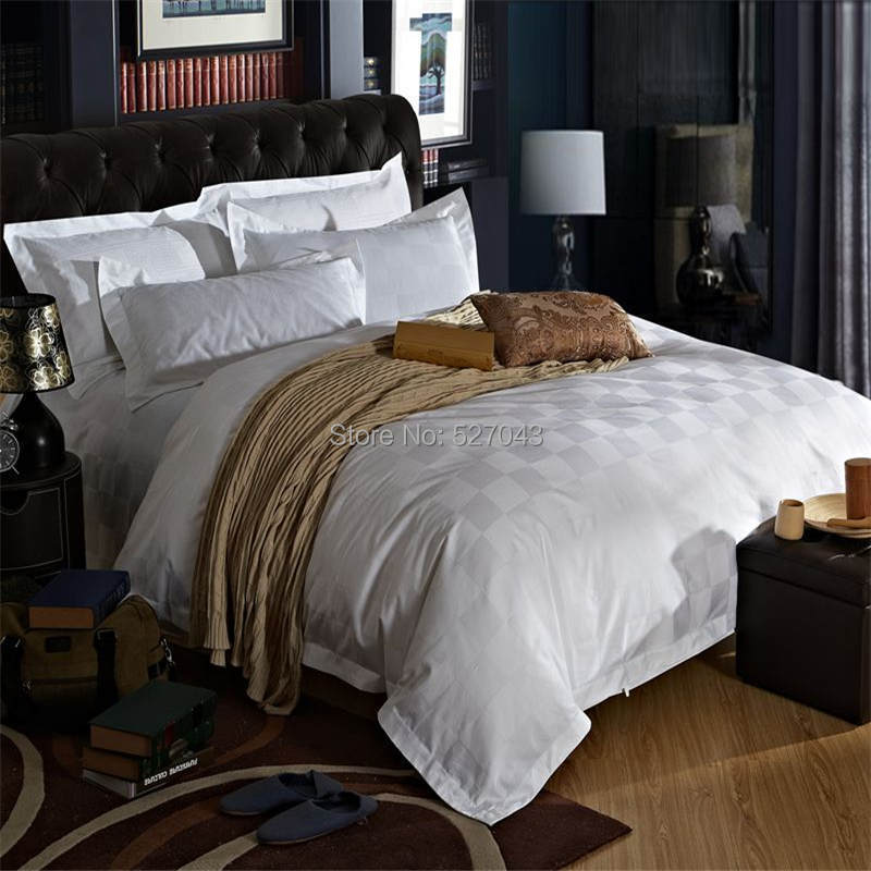 Hot very luxurious five star hotel style 4pc 100 cotton for Hotel style comforter