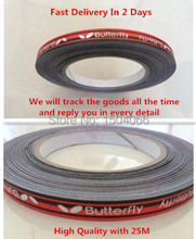 HIgh Quality with 25M,  Fast delivery, Butterfly Table Tennis Edge Tape Racket edge tape, Racket Edging Tape Racket Care (25m)(China (Mainland))