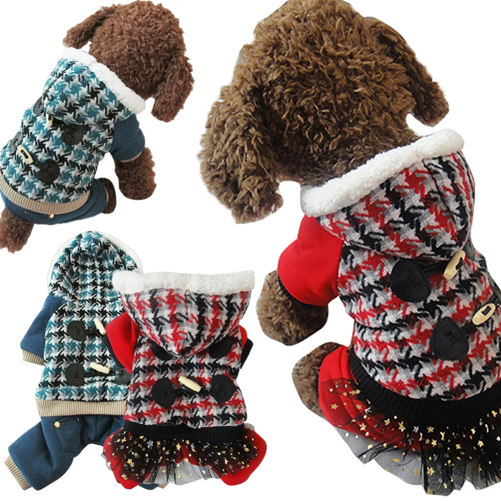 2 Colors Winter Cat Pet Pug Dog Clothes Apparel Buttons Hoodie Sweater Coat Clothes for Dog Free Shipping(China (Mainland))