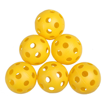 Hot Sale 50Pcs Plastic Whiffle Airflow Hollow Golf Practice Training Sports Balls Golf Accessories Free Shipping(China (Mainland))