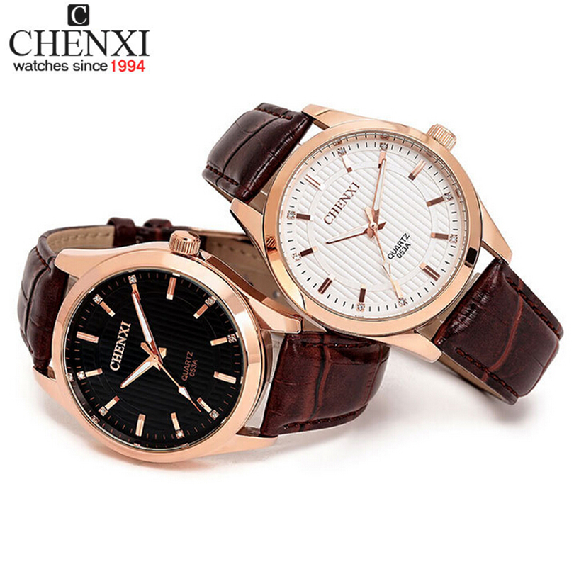 Aliexpress Top Sell CHENXI Leather Strap Rose Gold Case Watch Luxury Fashion Casual Watch for Men Wristwatch Man Hours Quartz(China (Mainland))