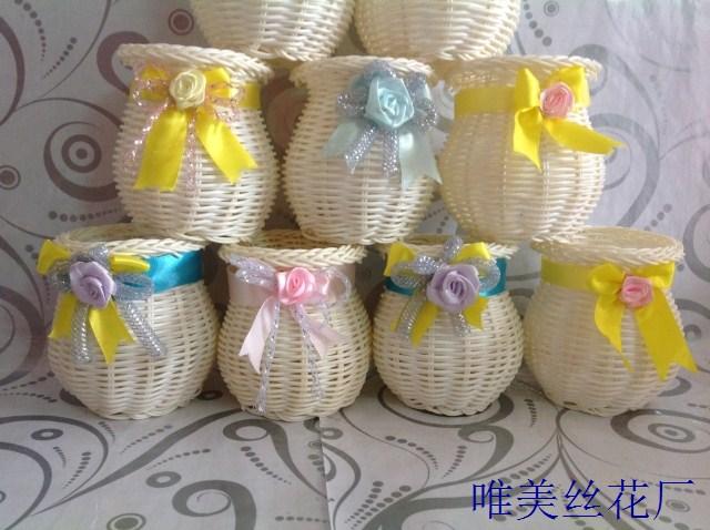 Kunstbloem woondecoratie kleine bloempot mini plastic emmer(China (Mainland))