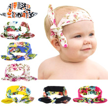 2016 New Baby Girls Knot Headband Kids Toddler Design Pritting Elastic Headwrap Infant Cross Turban Twisted Hair Accessories1pcs