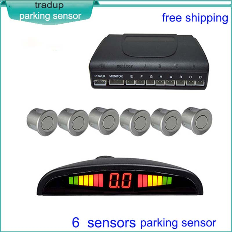 6 sensors car parking radar detector,non-blind area and anti-interference Led auto parking sensor<br><br>Aliexpress